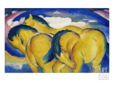 Little Yellow Horses, 1912 Giclee Print