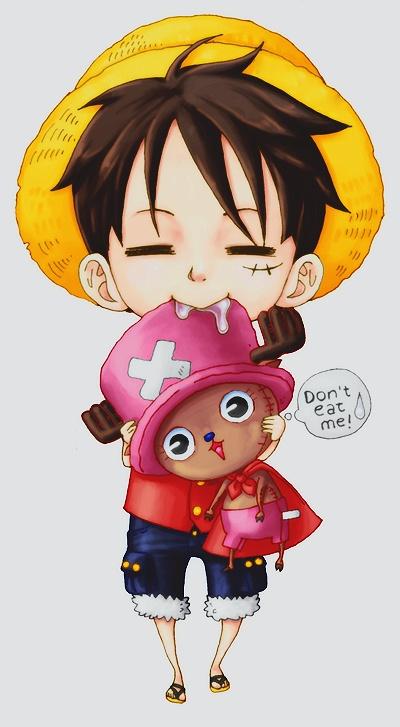 Luffy and chopper