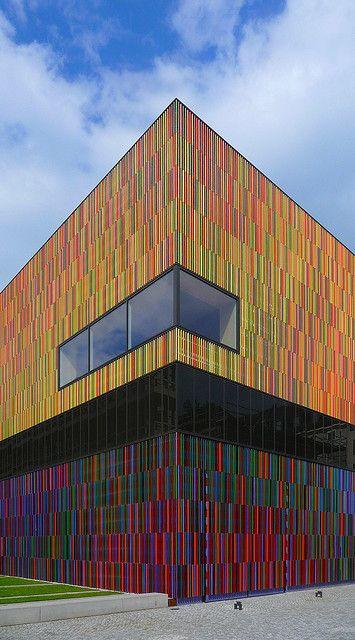 Das Brandhorst Museum in München. Schon von außen einen Besuch wert!