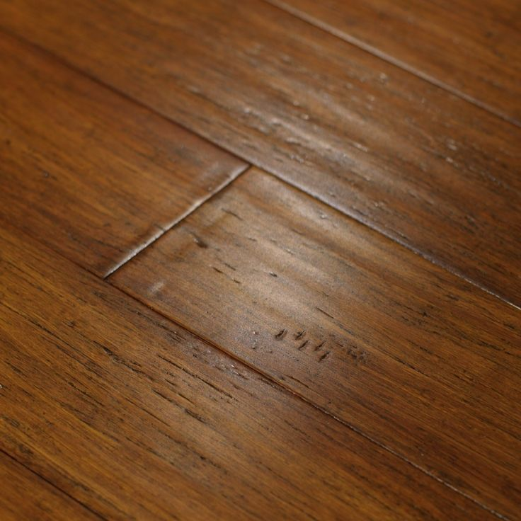 Hand Scraped Strand Woven Bamboo Flooring In The Perfect Color.