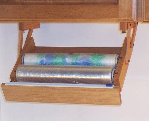 Under Cabinet Plastic Wrap Dispenser Google Search Plastic Wrap Dispenser Diy Kitchen