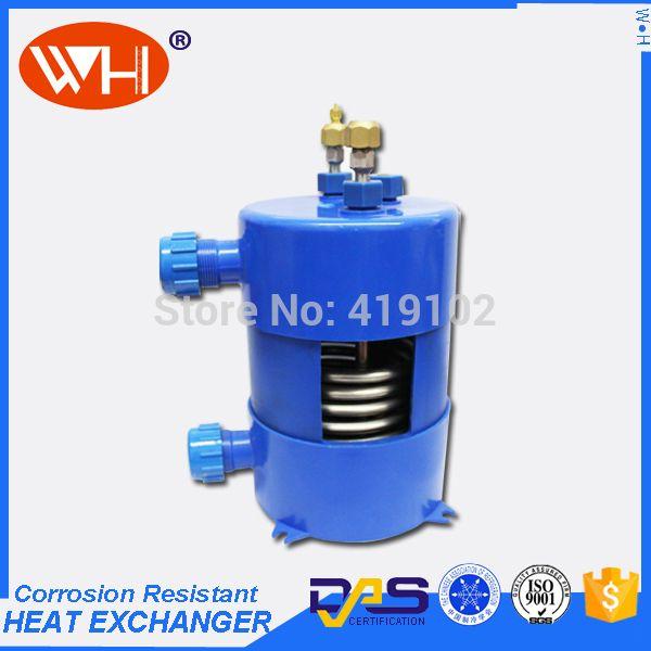 2 pieces WHC-2.0DYW pvc titanium heat exchanger aquarium chiller
