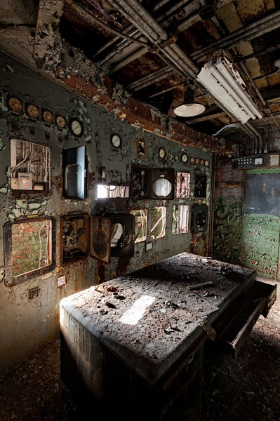 Ancillary control room in a side building at Bethlehem Steel in Buffalo, NY.