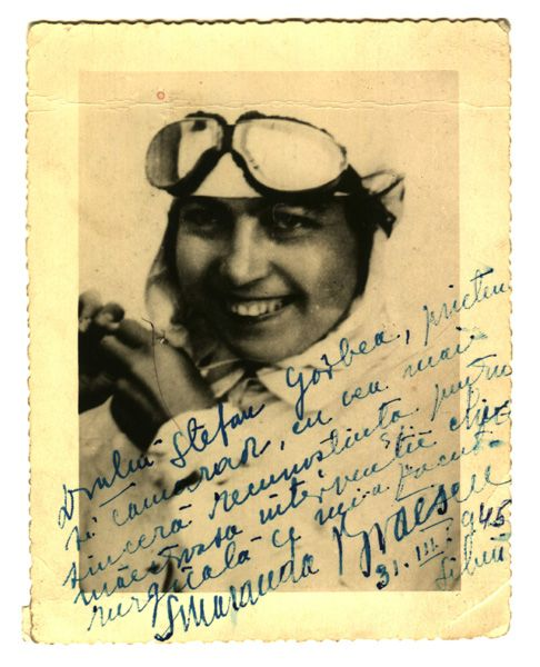 Smaranda Braescu: She was the first female Romanian pilot, the European skydiving champion in October 2, 1931, skydiving from a record height of 6,000 m, landing in the Bărăgan Plain, the world champion in 1932 with a jump of 7200 m near Sacramento, California, and set a record crossing the Mediterranean Sea. In the States she was offered lucrative contracts at Hollywood (for stunt jumps) but she recoiled in horror and went back to Romania.