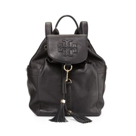 Tory Burch Thea Tasseled Textured-Leather Backpack is a fierce, functional, and structured. http://www.rankandstyle.com/top-10-list/best-leather-backpacks/tory-burch-thea-tasseled-textured-leather-backpack/
