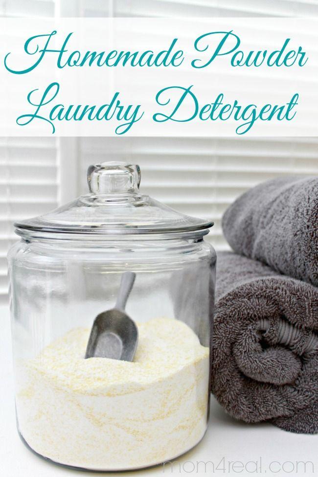 Receta hecha en casa detergente de lavandería en polvo