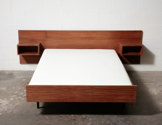 MID-CENTURY DANISH TEAK BED WITH NIGHT STANDS: Amsterdam Modern ($500-5000) - Svpply