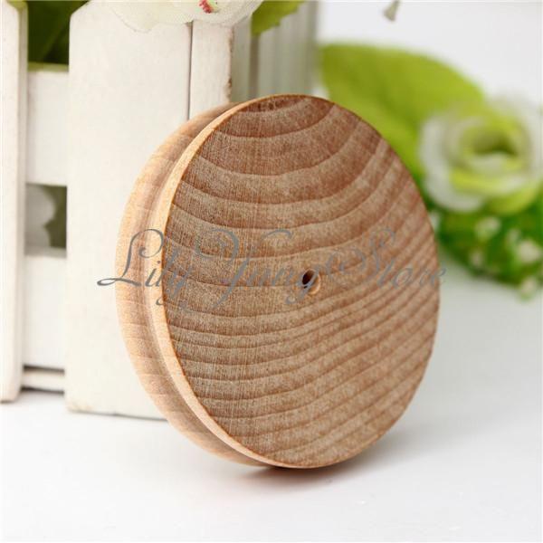 Kr. 11,50 per stk - Leather-Craft-Round-Flat-Cake-Wood-Edge-Slicker-Burnisher-Working-DIY-Tools-Set