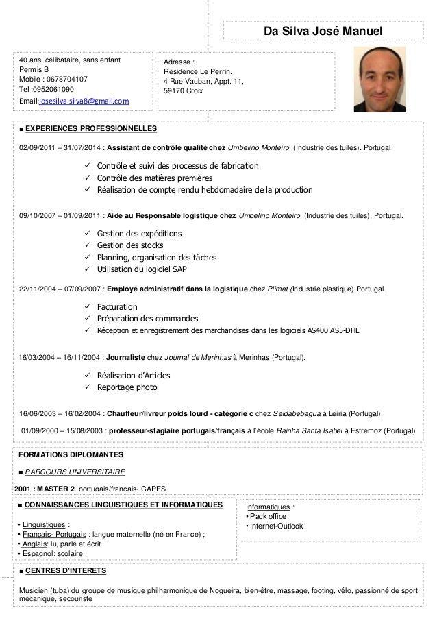 Permis B Curriculum Vitae Modelo De Curriculum Vitae