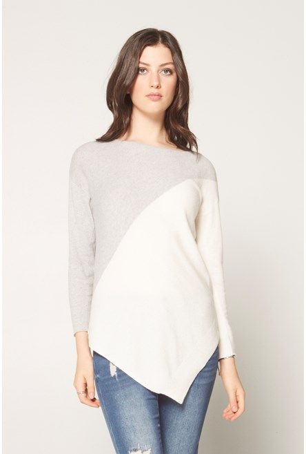 Asymmetric+Colourblock+Sweater+ #NewandNow
