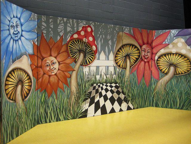 alice in wonderland mural   Alice in Wonderland stage set.   Flickr - Photo Sharing!