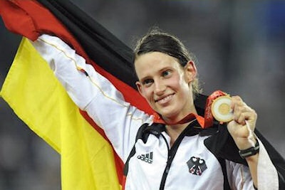 Germany - Lena Schoneborn - Pentathlon:    Lena Schoneborn is a professional pentathlete who competes in the Modern Pentathlon via the Olympics and other international competitions. In the 2012 Summer Olympic Games in London, Schoneborn will represent her home country in the event and is a favorite entering into the Games.    Lena isn't exactly new to the Olympic stage. Competing in the Modern Pentathlon in 2008 in Beijing, Schoneborn had a very strong showing and earned a gold medal for...