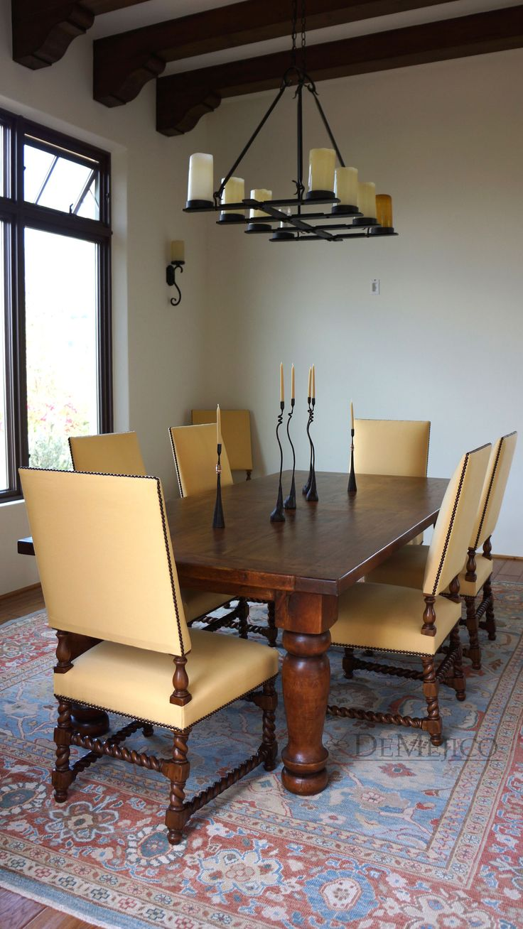 Completed This Spanish Dining Room With Some Of Our Fav Demejico Inspiration Spanish Dining Room Table Design Inspiration