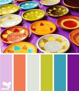 Great color combo for any craft project! #craftyfiesta: Colors Pallets, Plates Hue, Design Seeds, Bright Colour, Colors Schemes, Colour Palette, Bright Colors Palettes, Girls Rooms, De Colors