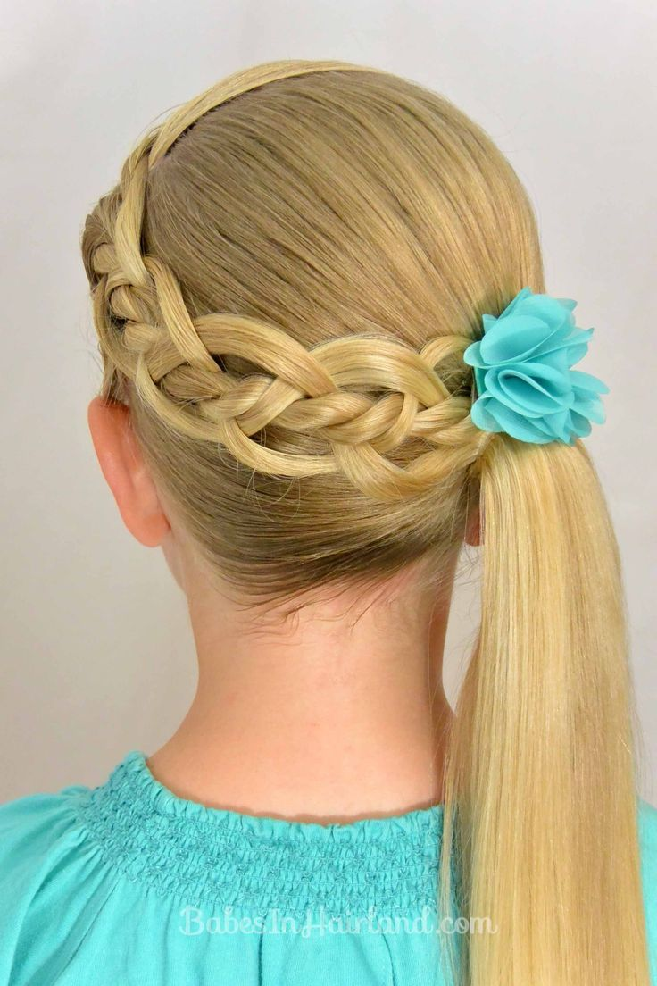 Try this 4-strand braid for your little girl.