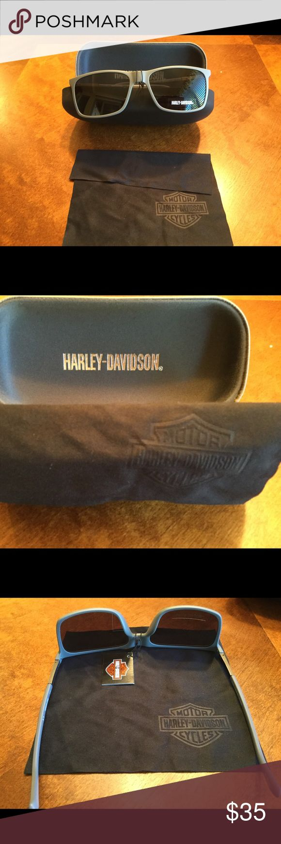 NWT Harley Davidson sunglasses with case and cloth Great sunglasses with case and custom cloth. Harley-Davidson Accessories Glasses