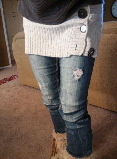 Bum warmer, turn an old sweater into a bum warmer