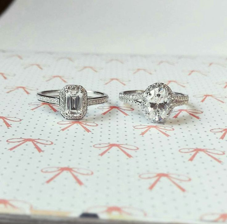 Two new designs coming soon.. which one would you choose?? Left: Emerald Cut, Right: Oval Cut