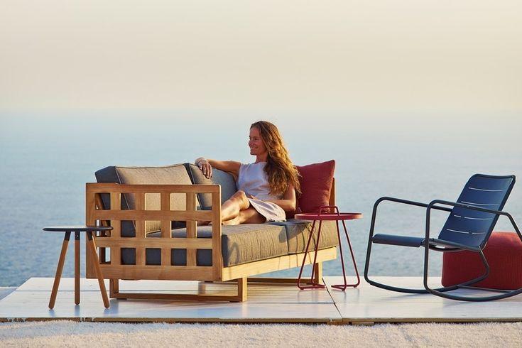 SQUARE Cane-line sofa teakowa. Design: Foersom & Hiort-Lorenzen