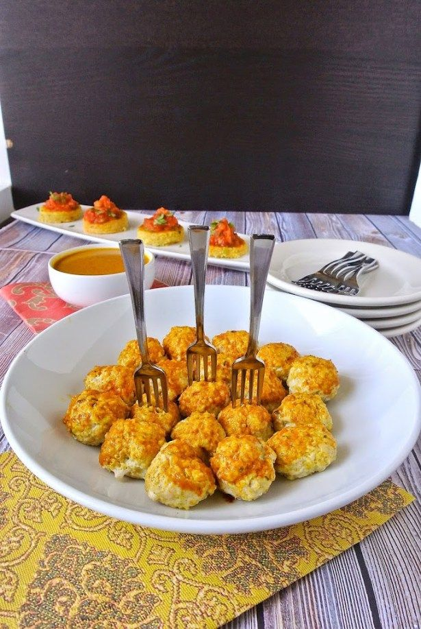 Mini Indian meatballs with curry coconut sauce - Culinary Ginger