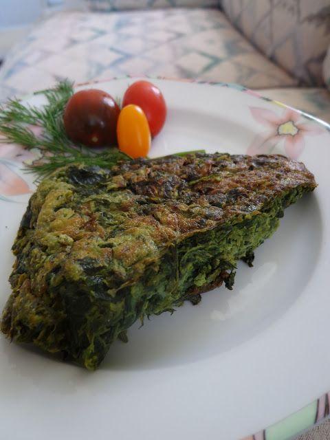 La mia cucina persiana: Kuku' Sabzi - La Frittata di Spinaci ed Erbe Aromatiche