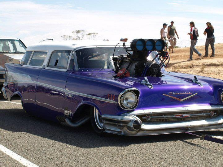 Blown 57 Chevy Nomad Hot Rods Chevy Chevy Nomad Cars
