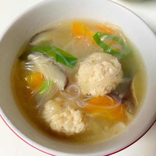 これまた長男の好物♡ - 9件のもぐもぐ - 鶏だんご春雨スープ by bangbangbang