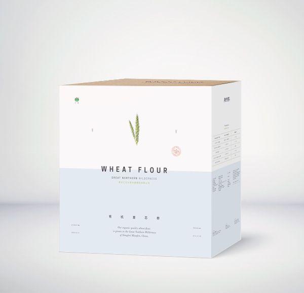 Wheat Flour Minimal Packaging Design #packaging