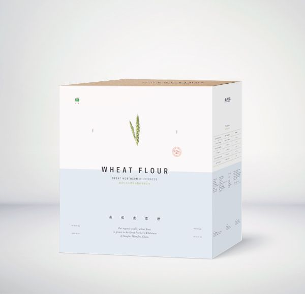 Wheat Flour Minimal Packaging Design #packaging
