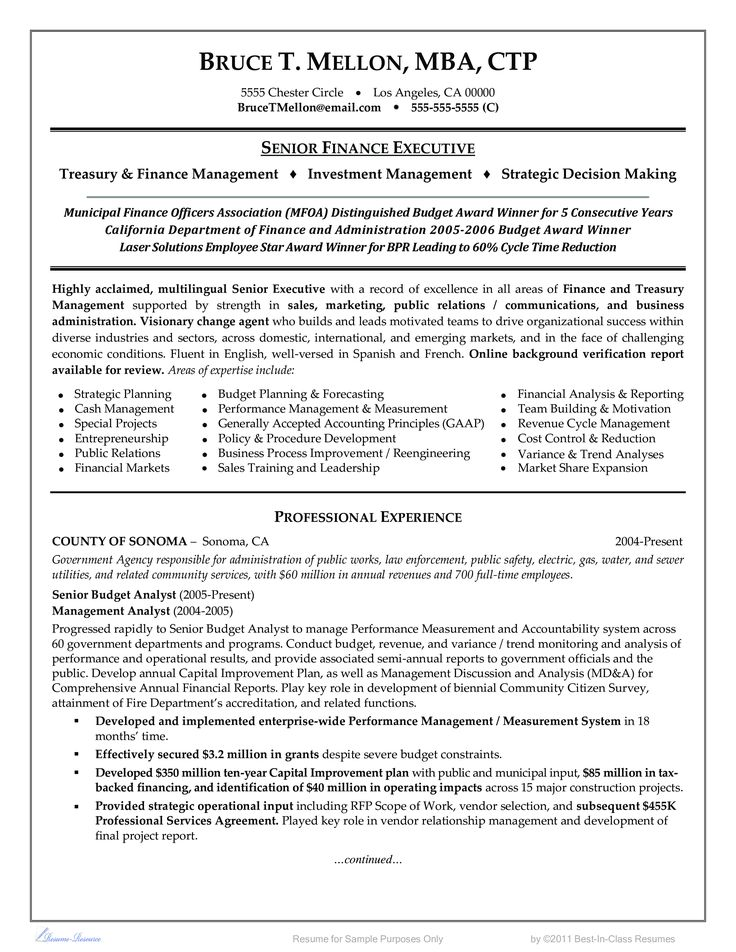 Free #DJ Resume Example (resumecompanion) Resume Samples - financial officer sample resume