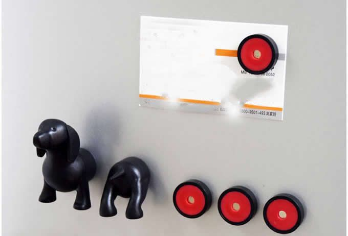 Extended  Lincoln Dog Refrigerator Magnets