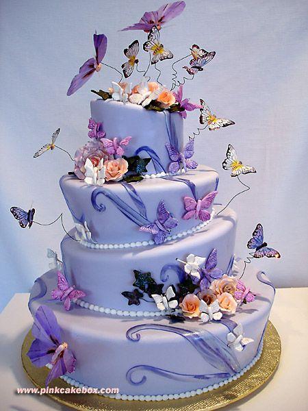 Butterfly topsy turvy cake