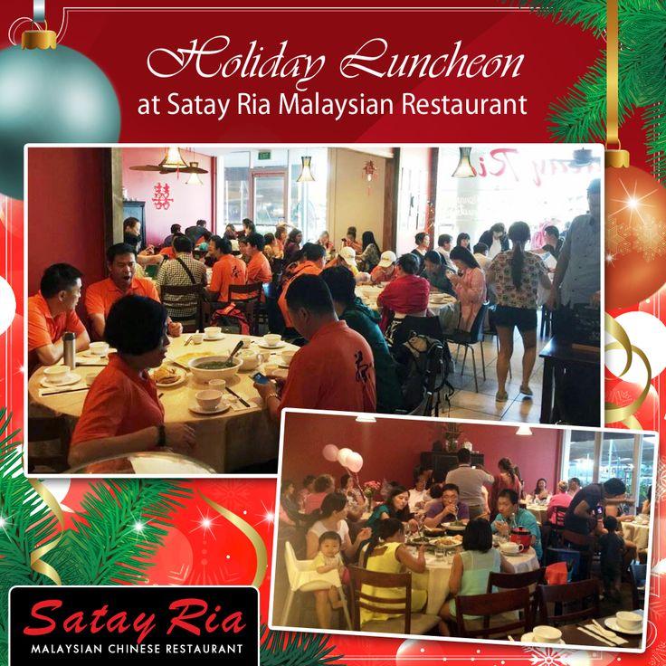 Holiday Lunch at Satay Ria Malaysian Restaurant. Happy