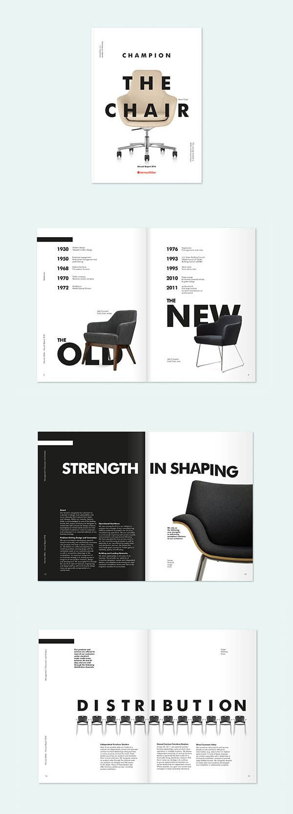 good use of footers and imagery as the negative space allows room for more text