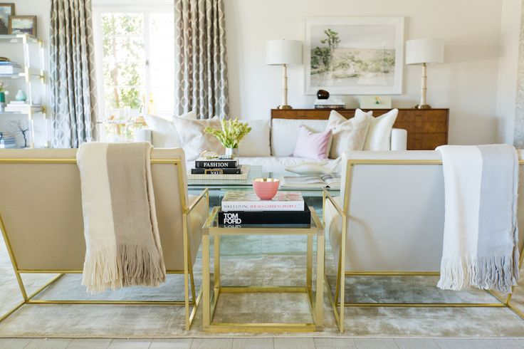 Tour Catt Sadler's New Luxe Living Room