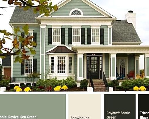 Green Exterior Paint Trend 2015 In 2020 House Paint Exterior Exterior Paint Colors For House Exterior House Colors