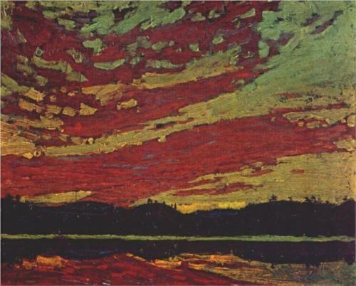 Tom Thomson (1877 - 1917) | Post-Impressionism | Sunset - 1915
