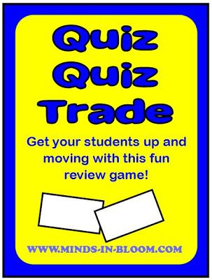 Quiz, Quiz, Trade: learn how to play this great review game that you can use with the whole class!