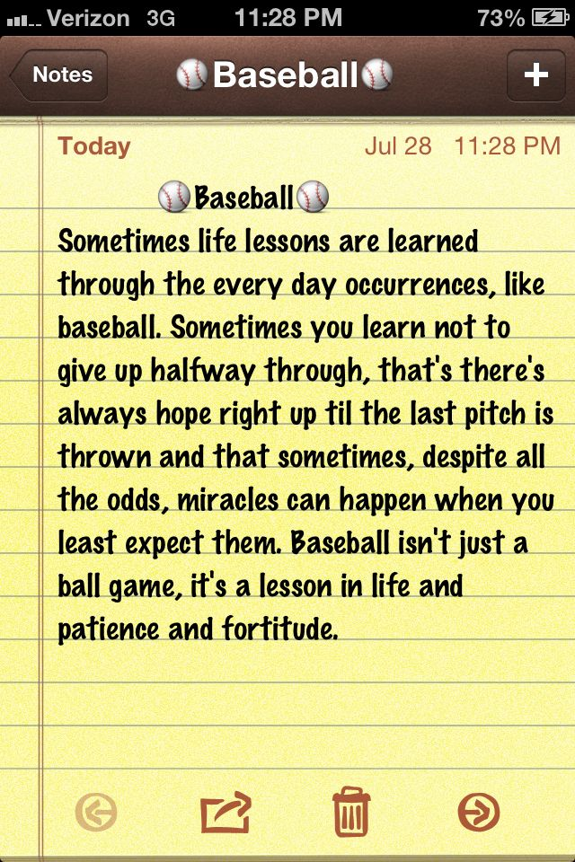 Baseball quote                                                                                                                                                                                 More