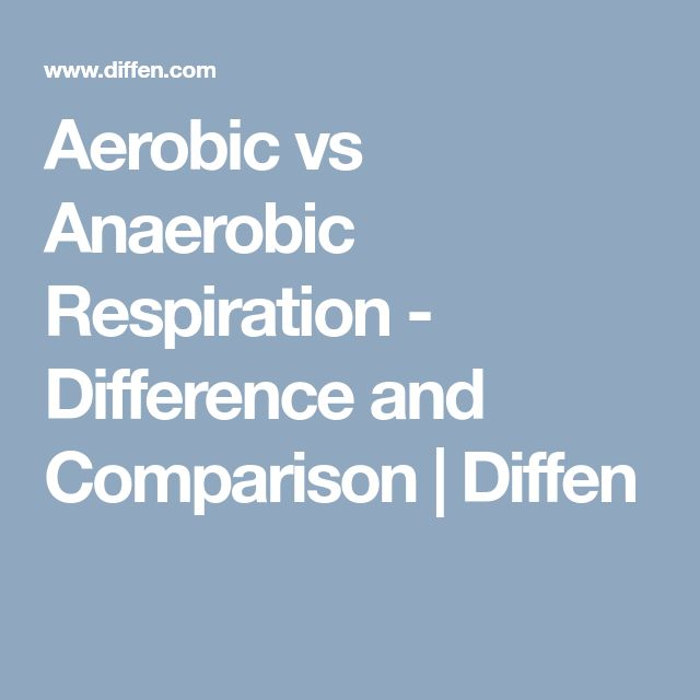 Aerobic vs Anaerobic Respiration - Difference and Comparison | Diffen