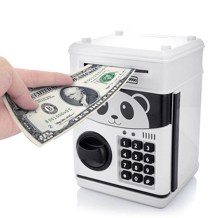 Jhua Cartoon Piggy Bank Cash Coin Can Pword Electronic Money Safe Saving Box Atm Locks Panda Smart Voice Prompt For