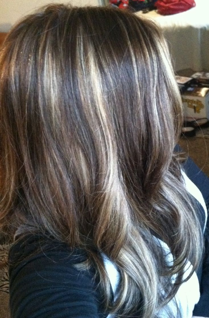 ... highlights blonde foils on dark hair honey highlights on dark hair