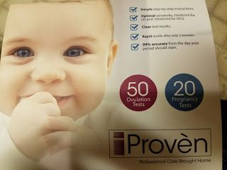"""5 Stars: Ovulation Test Strips and Pregnancy Test Kit - 50 LH and 20 HCG - OPK Ovulation Predictor Kit iProven FK-127  My husband and I have been trying to conceive (TTC) for over a year now. This kit by iProven is a great """"starter kit"""" for those trying to conceive. Buying the tests at the store can start to get really expensive. This kit is is $21.20 on Amazon right now.   This one has 50 ovulation prediction tests (OPKs) which can last a couple of months. I usually use somewhere between 8…"""