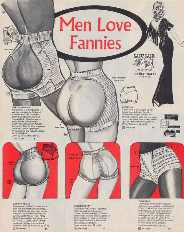 Vintage advert.. BIG OL BOOTY fancy knickers!!!!( I don't need em;)