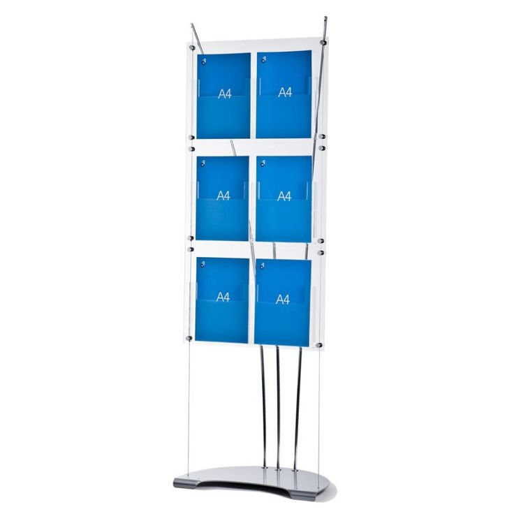 A4 Brochure holder stand with 6 x A4 pockets