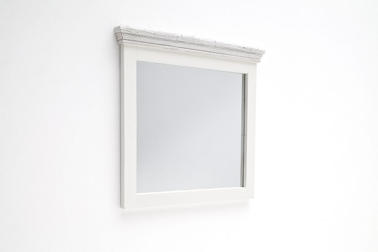 Wandspiegel Elsa II Massivholz / Kiefer weiß passend zum Möbelprogramm Elsa 1 x Wandspiegel / Garderobenspiegel Maße: B/H/T ca. 80 x 75 x 5 cm Aufbauart: aufgebaut... #flur #garderobe #spiegel