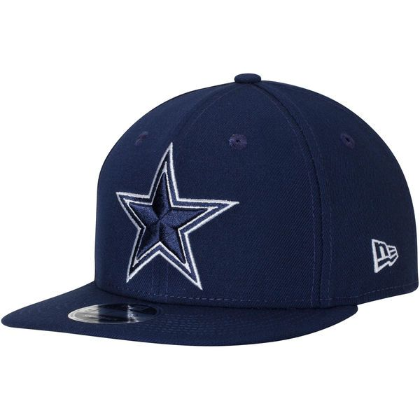 Troy Aikman Dallas Cowboys New Era Signature Side 9FIFTY Adjustable Snapback Hat - Navy - $33.99