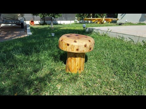 How to make a Wooden mushroom chair - YouTube
