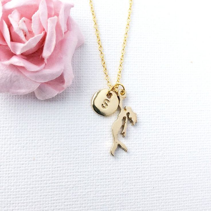 Personalised Gold Mermaid Necklace Beautiful initial charm necklace, create a special meaning for someone special, use their initials, add a special word or phrase, or a letter that sparks the beginning of a memory or a unspoken messag http://www.MightGet.com/january-2017-13/personalised-gold-mermaid-necklace.asp