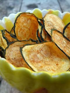 Baked Zucchini Chips - 0 weight watcher points Mine turned out a little darker but they are soooo good and guilt free too!